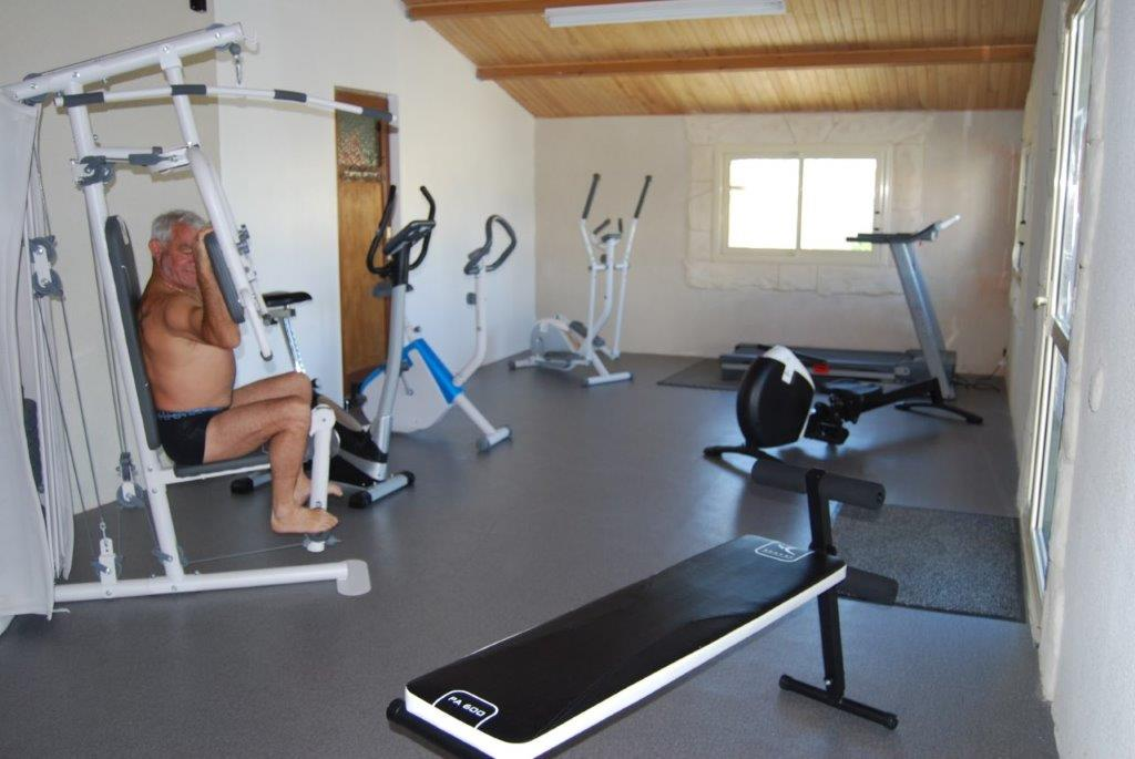 salle de fitness au camping