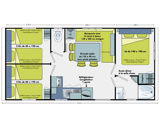 location 3 chambres);