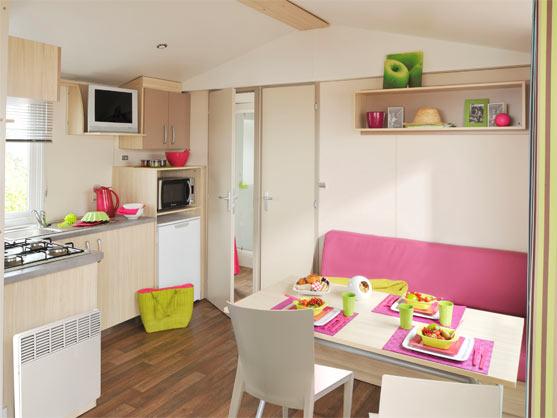 intérieure du mobil-home camping Vendée